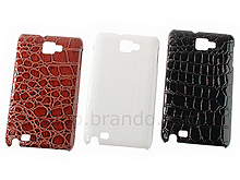 Samsung Galaxy Note Crocodile Leather Back Case