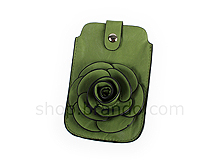 Smart Phone 3D Green Rose Carrying Case