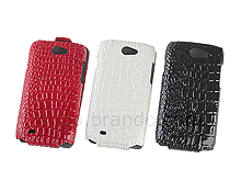 Samsung Galaxy W i8150 Crocodile Flip Top Leather Case