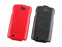 Samsung Galaxy W i8150 Snake Skin Flip Top Leather Case