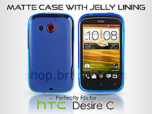 HTC Desire C Matte Case with Jelly Lining