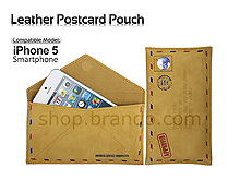 Leather Postcard Pouch For iPhone 5 / 5s / SE