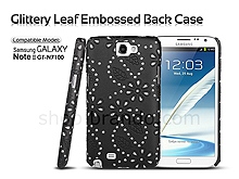 Samsung Galaxy Note II GT-N7100 Glittery Leaf Embossed Back Case