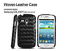 Samsung Galaxy S III Mini I8190 Woven Leather Case