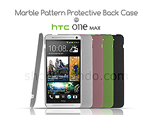 HTC One Max Marble Pattern Protective Back Case