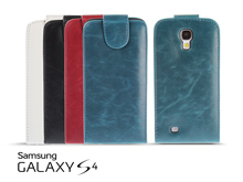 Samsung Galaxy S4 Fashionable Flip Top Faux Leather Case
