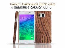 Samsung Galaxy Alpha Woody Patterned Back Case