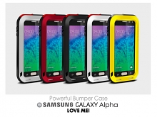 LOVE MEI Samsung Galaxy Alpha Powerful Bumper Case
