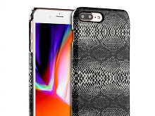 iPhone 8 Plus Faux Snake Skin Back Case