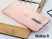 Nokia 8 Metallic Bumper Back Case