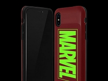 MARVEL Logo i-Slide Glow Case for iPhone X