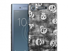 Sony Xperia XZ1 Embossed Skull Back Case
