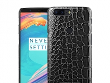 OnePlus 5T Crocodile Leather Back Case