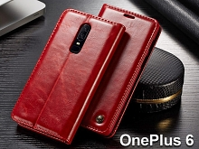 OnePlus 6 Magnetic Flip Leather Wallet Case