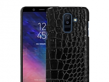 Samsung Galaxy A6+ (2018) Crocodile Leather Back Case