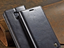 Samsung Galaxy A8 (2018) Magnetic Flip Leather Wallet Case