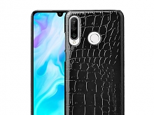 Huawei P30 lite Crocodile Leather Back Case