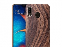 Samsung Galaxy A20 Woody Patterned Back Case