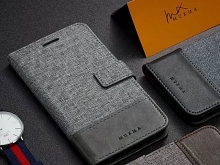 Sony Xperia 1 Canvas Leather Flip Card Case
