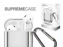 Amazingthing Supreme Solid Mirror Case for AirPods - Silver