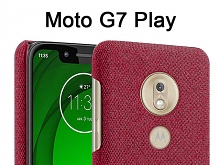 Motorola Moto G7 Play Fabric Canvas Back Case