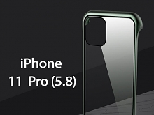 iPhone 11 Pro (5.8) Magnetic Aluminum Case with Tempered Glass