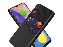 Samsung Galaxy A70s Two-Tone Leather Case with Card Holder