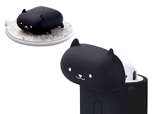 Elecom 3D Animal - Black Cat Silicone AirPods Case