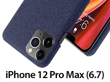 iPhone 12 Pro Max (6.7) Fabric Canvas Back Case