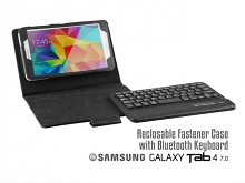 Samsung Galaxy Tab 4 7.0 Reclosable Fastener Case with Bluetooth Keyboard