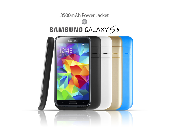 Power Jacket For Samsung Galaxy S5 - 3500mAh