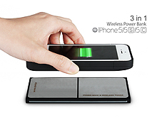 3 in 1 Wireless Power Bank for iPhone SE / 5s / 5c / 5