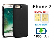 3-In-1 Dual SIM Card Power Jacket for iPhone 7