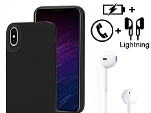 iPhone XS (5.8) Power Jacket Support Audio + Calling (4000mAh)