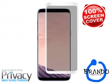 Brando Workshop Full Screen Coverage Curved Privacy Glass Screen Protector (Samsung Galaxy S8+) - White