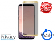 Brando Workshop Full Screen Coverage Curved Privacy Glass Screen Protector (Samsung Galaxy S8+) - Gold