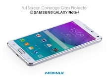 Momax Full Screen Coverage Glass Protector for Samsung Galaxy Note 4
