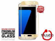 Brando Workshop Full Screen Coverage Glass Protector (Samsung Galaxy S7) - Gold
