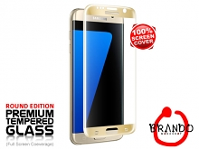 Brando Workshop Full Screen Coverage Curved Glass Protector (Samsung Galaxy S7 edge) - Gold