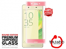 Brando Workshop Full Screen Coverage Curved Glass Protector (Sony Xperia X) - Rose Gold