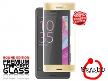 Brando Workshop Full Screen Coverage Curved Glass Protector (Sony Xperia X Performance) - Gold