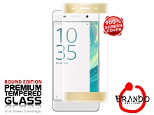 Brando Workshop Full Screen Coverage Curved Glass Protector (Sony Xperia XA) - Gold