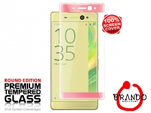 Brando Workshop Full Screen Coverage Curved Glass Protector (Sony Xperia XA Ultra) - Rose Gold