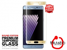 Brando Workshop Full Screen Coverage Curved Glass Protector (Samsung Galaxy Note7) - Gold
