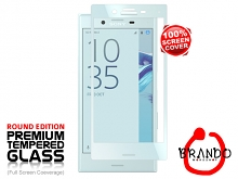 Brando Workshop Full Screen Coverage Glass Protector (Sony Xperia X Compact) - Mist Blue