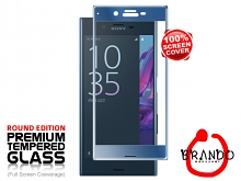Brando Workshop Full Screen Coverage Glass Protector (Sony Xperia XZ) - Forest Blue