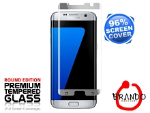 Brando Workshop 96% Half Coverage Curved Glass Protector (Samsung Galaxy S7 edge) - Silver