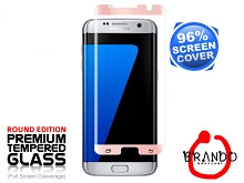 Brando Workshop 96% Half Coverage Curved Glass Protector (Samsung Galaxy S7 edge) - Rose Gold