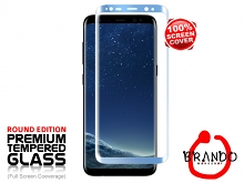 Brando Workshop Full Screen Coverage Glass Protector (Samsung Galaxy S8) - Blue Coral