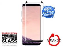 Brando Workshop 96% Half Coverage Curved Glass Protector (Samsung Galaxy S8+) - Black